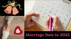 Marriage date in 2022